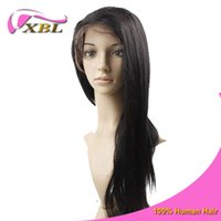 Wholesale 7A Kinky Straight Glueless Lace Wigs Brazilian Malaysian Indian Peruvian Human Hair DHL XBLHair