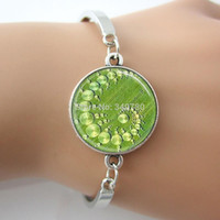 alien photos - Crop Circle Bracelet Aliens UFO s Bangle Geometric Jewelry Green Art Picture Photo Bracelets Bangles G029