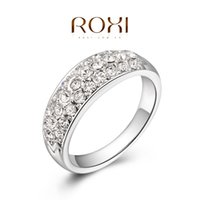 Wholesale 015 ROXI New Year luxury wedding rings top quality make with genuine SWR crystal hand made fashion jewelry
