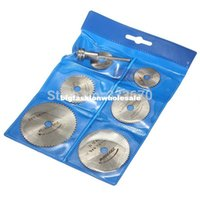 Wholesale 6PCS Sliver HSS Rotary Tool Circular Saw Blades Cutting Discs Mandrel for Dremel Cutoff RPM