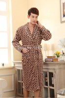 animal jam - New Men s Nightgown Male Flannel Bathrobes High Quality Pyjamas Thicken Warm Jams