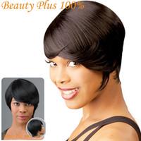 afro hair cuts - 10 quot Short Wigs for Black Women Pixie Cut Wig for Women Short Cheap Afro Full African American Realistic Kanekalon Wig Short Hair