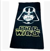 Wholesale 2016 Sale Real Toallas cm Star Wars Towel Printed Cotton Baby Cartoon Darth Vader Bath Towels Kids Beach Bathroom Christmas Gift M846