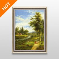 Cheap 100% Handpainted Landscape Oil Painting Modern Wall Painting Canvas Wall Art Picture Painting Unframed Canvas Painting