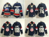 blank hoodie - Team USA Blank Chicago Blackhawks Patrick Kane St louis T J Oshie Blue Cream Olympic Sochi Nhl Ice Hockey Old Time Hoodies Jerseys