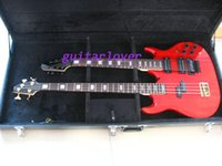 Wholesale New Double neck bass guitar6 string GUITAR floyed rose and string bass guitar red bass Guitar OEM Available