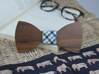 big mens shirts online - Walnut Wood Cheap Ties online Big bowknot Bow Tie Wood Bow Tie for men leisure Gentleman mens ties vintage tie dye shirts Creative Gifts