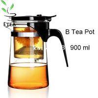 Wholesale Hot New ml simple tea kettle tea pot Heat Resistan Glass Teapot Convenient Office Tea Pot Set ETP002