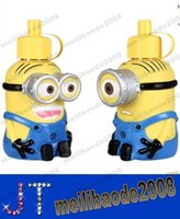 metal water bottle - NewDespicable Me Minions Water Bottles Vacuum Cup Stainless Steel Water Bottle Shape Christmas Gift MYY14636