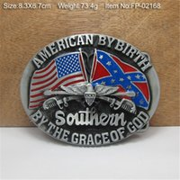 Wholesale 3D Rebel Eagle South Southern Confederate Flag Metal Belt Buckle styles DHL