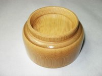 baby soups - Bamboo tableware baby bowl bowl of children Natural trumpet ecru bamboo bowl no paint Korean wooden bowl soup bowl
