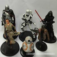 New 6-10cm Star Wars Figurines d'action jouets Darth Vader stormtrooper R2D2 PVC Q chiffres version jouets 6 modèles avec base noir C255