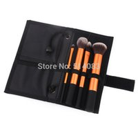 Cheap Portable Brushes Gold Professional Powder Brush Facial Care Facial Beauty Cosmetic Makeup Tool Brush Purse Brushes With box Logo