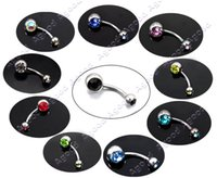 Wholesale Body Jewelry x Gorgeous Crystal Belly Ring Navel Bar Body Jewelry