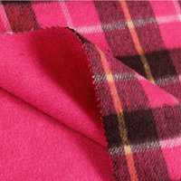 red plaid fabric - Crazy discount red color wool fabric plaid pattern dress fabric milan checked woollen material for coat SP453