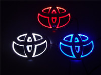 auto modify - 2016 New D Auto standard Badge Lamp Special modified car logo LED light for Toyota COROLLA CROWN YARIS COROLLA VIOS etc