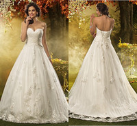 country wedding dresses - 2015 A Line Vintage Backless Applique Tulle Best Sweetheart Elegant Sexy Country Wedding Dresses Bridal Gowns Custom Made Chapel Train