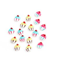cupcake charm - 20pcs mixed three colors cupcake plastic floating charms for glass living memory lockets