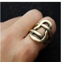Band Rings american range - Min order is mix order Tidal Range Of European And American Minimalist Punk Exaggerated Texture Hollow Ring j191