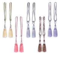 beaded curtain tiebacks - New Pair Crystal Tassel Beaded Tiebacks Window Curtain Fringe Tie Backs Home Decor