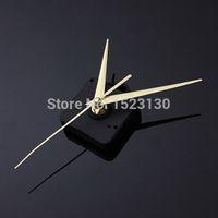 achat en gros de horloge à quartz de mécanisme silencieux-Or mains Quartz Noir Mouvement Horloge murale bricolage et réparations de Mécanisme Pièces silencieux