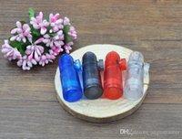 plastic lighter - 2015 hot sale Plastic Snuff Dispenser Bullet Rocket Snorter sunff smoking pipe bongs rolling machine paper cigarette lighter plastic pipe