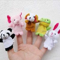 Wholesale Kids Puppy Finger Toys Newborn Cartoon Animal Action Figure Plush Toys VT0013 kevinstyle