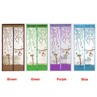Wholesale Modern Summer Prevent Mosquito curtains Screen Door Magnetic Magnet Scenery Mesh for living room Jul07