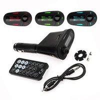 Wholesale Promotion New Car Kit MP3 Player Remote Wireless FM Transmitter Modulator USB SD MMC LCD