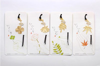 Wholesale Styles Can Chose Mini Cute Golden Color Leaf Shape Bookmark Book Mark