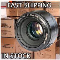 Wholesale In Stock YONGNUO YN mm F1 Lens Large Aperture Auto Focus Lens for Canon EOS D D D2 D3 D2 D D D DSLR