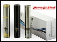 Cheap Nemesis Mod E cig vape mods Nemesis mechanical Mod Electronic Cigarette Nemesis Fit 18350 18500 18650 battery VS Chiyou King Mechanical mod