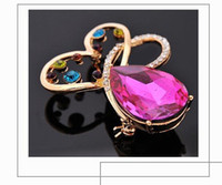 anniversary gift ideas women - New Arrival Brooch Bouquet With Crystal Fashion Jewelry Stores Small Fish Brooches For Women Girls Wedding Gift Ideas