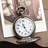 london necklace - New arrival hot sale russia stylish bronze London Bridge pocket watch necklace vine women