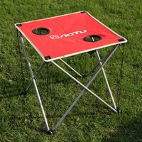 Wholesale Lightweight Outdoor Portable Folding Oxford Fabric Table Fortable Desk for Camping Picnic Travel BBQ Beach Blue Red Green