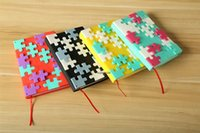 Wholesale EMS Pieces Fancy Building Writing Notebook Cute MARK S Puzzle Notebook School supplies Stationery