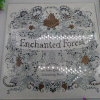 best drawing paper - 2015 best sales Edition Enchanted Forest Secret Garden An Inky Quest Coloring Book For Relieve Stress Graffiti Painting Drawing Book