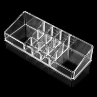 Wholesale FS Hot Clear Acrylic Cosmetic Organiser Lipstick Brush Holder Makeup Storage Case order lt no track
