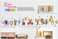 band graphics - Cartoon animal band wall stickers eco friendly child real decoration stickers DIY home decals removable pvc kids stickers