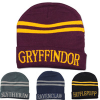Wholesale Harry Potter college hats Gryffindor cap Slytherin beanies Ravenclaw skullies winter hat