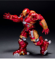 Roles big mark - New Arrival Super Heroes The Avengers Iron Man Mark With LED Light PVC Action Figure Collection Model Toy