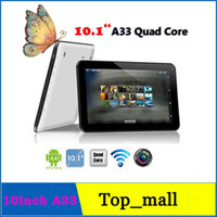 Wholesale 10 inch A33 Quad Core Tablet PC Android KitKat DDR3 G GB GHz Dual Camera OTG Bluetooth Wifi Cheap Allwinner A33 Tablets