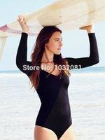 bathing suit shirts for women - Black rash guard long sleeve surfing suit for women swimwear swim shirt sport girl beach bodysuit swimsuit bathing suit V107B