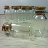 Wholesale 100X Clear Glass Wishing Bottle Vials With Cork Cute Mini Cork Stopper Glass Bottles Wishing Bottle Vials Jars Containers cm