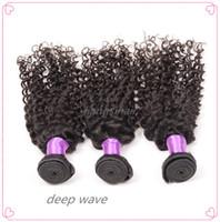Wholesale Brazilian hair Deep Wave hair extensions A unprocessed human hair weave Brazilian Virgin Human Hair Extensions