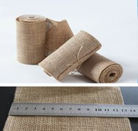 Wholesale 2015 DIY home decor Burlap Ribbon burlap decorative flowers wreaths jute wedding ribbon jute webbing roll MM Width X1000MM