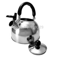 Wholesale Siver Liter Stainless Steel Whistle Whistling Tea Kettle Water Pot Heat Assitant Handle Kitchen Caravan Camping Parts