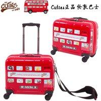 Wholesale British cuties Genuine London Bus Car Wheels Children travel trolley inch drag box can mount