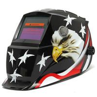 Wholesale Eagle Stars Solar Auto Darkening Helmet Welding Electrowelding TIG MIG Welder Lens Mask MAC_10J