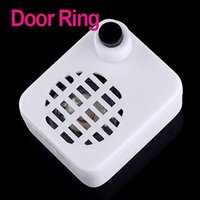 Wholesale Mini Wireless IR Sensor Auto Door Ring with Welcome Device English White dropshipping